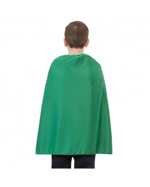 Child Green Superhero Cape 28""