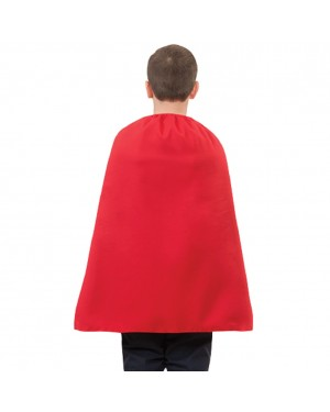 Child Red Superhero Cape 28""