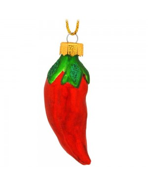 Chili Pepper Glass Ornament