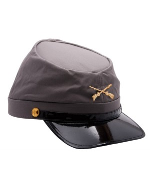 Civil War Confederate Army Grey Cap
