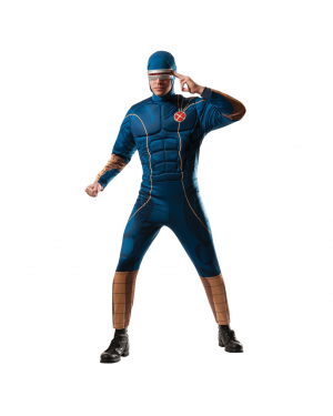 Cyclops Muscle Blue Adult Costume