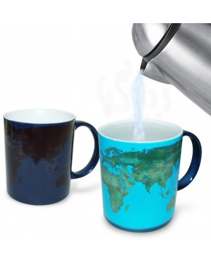 World Day And Night Heat Changing Mug