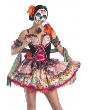 Day of the Dead Sexy Womens Costume