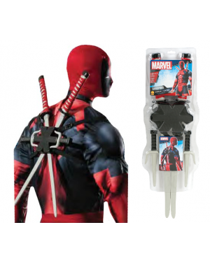 Ninja Swords and Knives Deadpool Weapon Kit Costume Prop