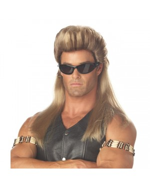 Bounty Hunter Mullet Wig