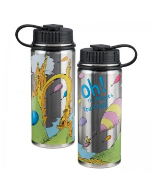 "Dr. Seuss ""Oh the Places You'll Go"" 18 oz. Vacuum Insulated Stainless Steel Bottle"