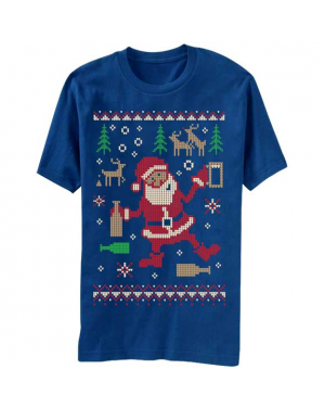Drunk Santa Ugly Christmas Sweater T-Shirt