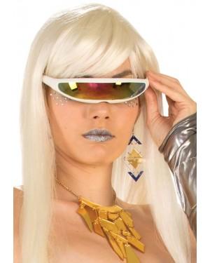 White Cyborg Glasses