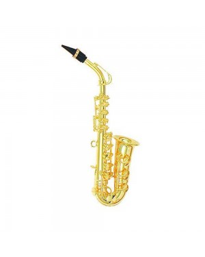 Gold Metal Alto Saxophone Ornament
