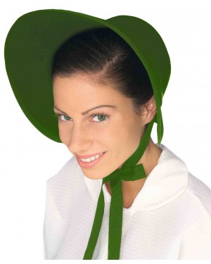 Green Felt Bonnet