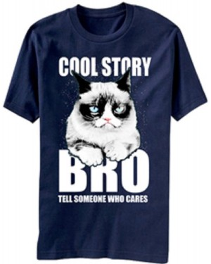 Cool Story Bro Grumpy Cat T-Shirt