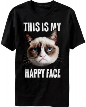 This Is My Happy Face Grumpy Cat T-Shirt