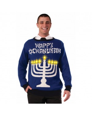 Happy Chanukah Light Up Ugly Christmas Sweater