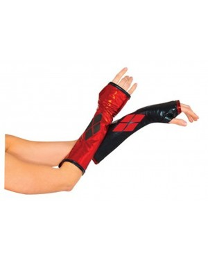 Harley Quinn Fingerless Glove Gauntlets
