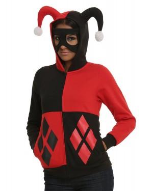 Harley Quinn Jester Batman Hoodie Costume
