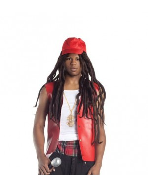 Rapper Wig With Hat And Dreadlocks