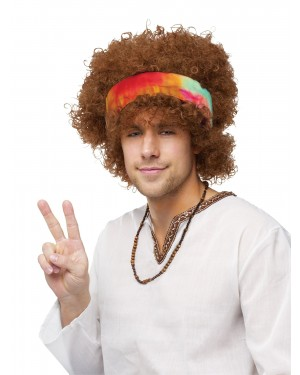 Hippie Fro Wig With Headband