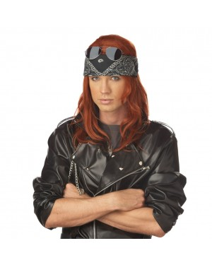 Hollywood Rocker Auburn Wig