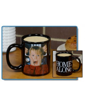 Home Alone Black Decal 11 oz Mug