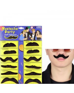 12 Self Adhesive Fake Mustaches