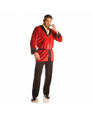 Red Smoking Jacket Robe