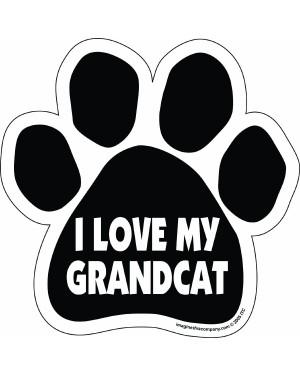I Love My Grandcat Paw Magnet