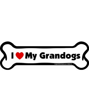 I Love My Granddogs Bone Magnet