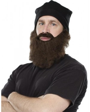 Jas Crazy Quackers Black Ski Cap with Brown Beard