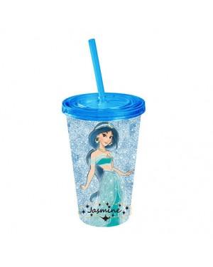 Aladdin Princess Jasmine Glitter Acrylic Travel Cup