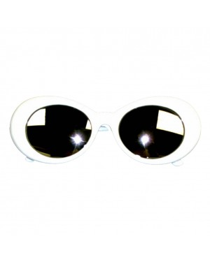 Kurt Cobain White Mirror Lens Sunglasses