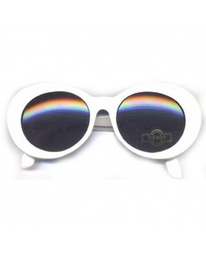 Kurt Cobain White Round Sunglasses