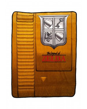 Nintendo Zelda Gold Cartridge Throw Blanket