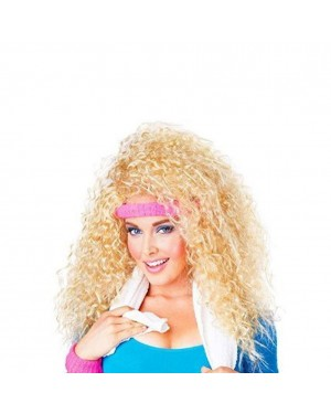 Let's Get Physical Wig With Headband And Wristbands