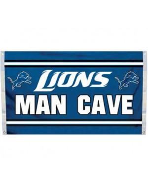 Detroit Lions Man Cave Flag