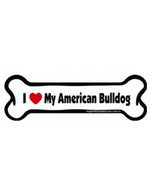 I Love My American Pitbull Bone Magnet
