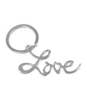 Silver Love Key Chain