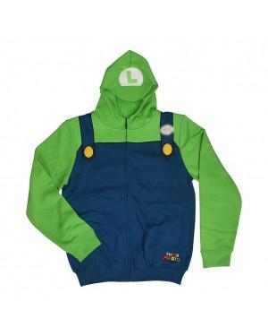 Luigi Super Mario Brothers Hoodie Costume