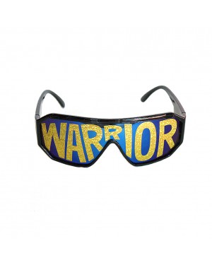 Macho Wrestler Warrior Black Shield Sunglasses