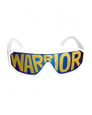 Macho Wrestler Warrior White Shield Sunglasses