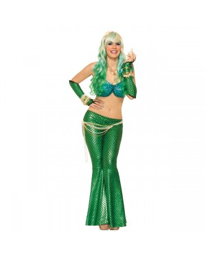 Green Mermaid Fin Leggings