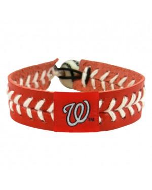 Washington Nationals Team Color Baseball Bracelet