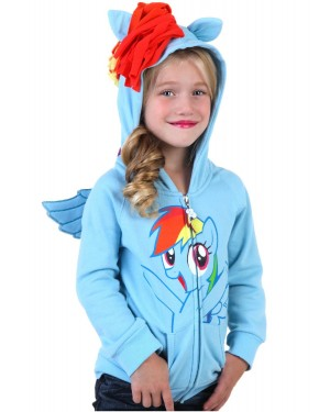 Rainbow Dash My Little Pony Youth Hoodie Costume