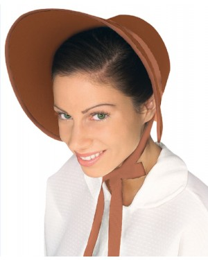 Brown Felt Bonnet