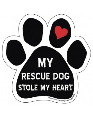 My Rescue Dog Stole My Heart Paw Magnet