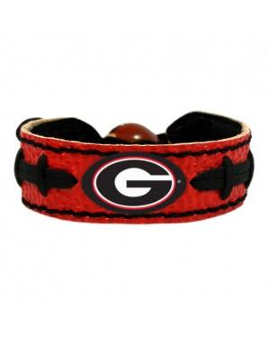 Georgia Bulldogs Team Color Football Bracelet