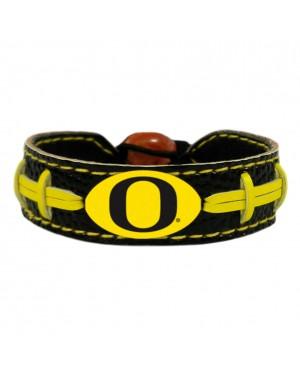 Oregon Ducks Team Color Football Bracelet