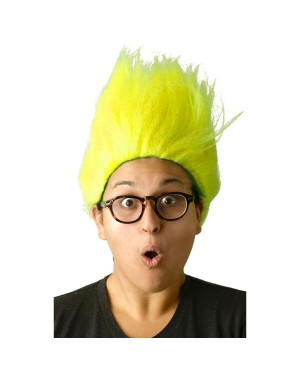 Neon Yellow Troll Wig
