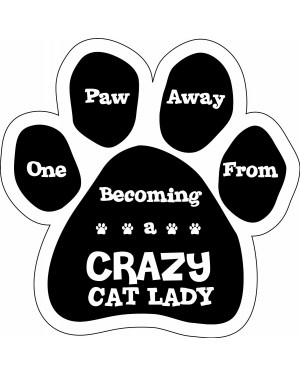 One Paw Away From Crazy Cat Lady Magnet