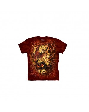 Fire Tiger Adult T-Shirt