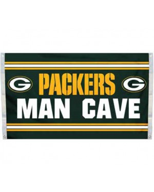 Green Bay Packers Man Cave Flag